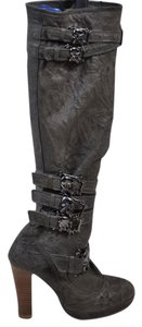 Thomas Wylde Wylde Gunmetal Skulls Buckles Leather Size 7 khaki-brown Boots