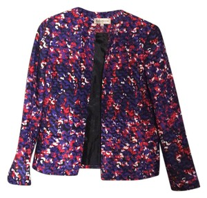 Evan Picone black, red, purple, white Blazer