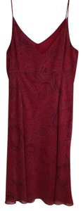 Ann Taylor short dress Red Silk on Tradesy