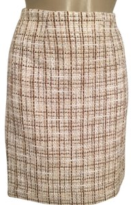 Grace Elements Skirt Brown & White