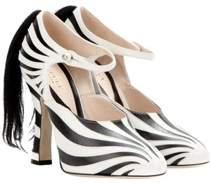 Gucci Zebra Fur Pumps
