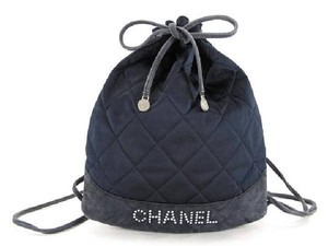 Chanel Satin Squede Studded Backpack