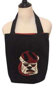 Other Tote in Black, Red, and White