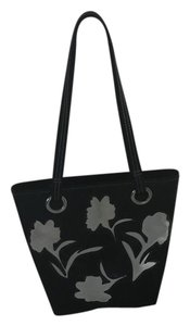 Liz Claiborne Tote in Black with white flowers