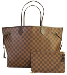 Louis Vuitton Lv Gm W/p Damier Ebene Neverfull Shoulder Bag