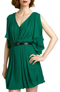 Robert Rodriguez Silk Open Belted A-line Dress