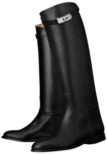 Hermès Kelly Black Boots