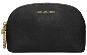 Michael Kors Alex Large Travel Pouch Cosmetic Case Black