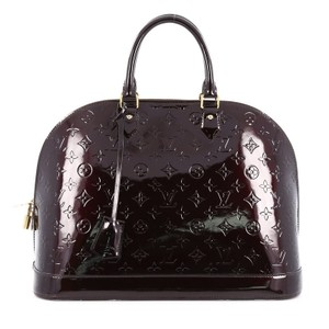 Louis Vuitton Vernis Satchel in Amarante