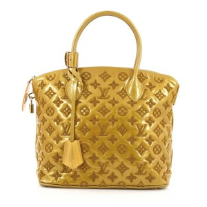Louis Vuitton Lambskin Tote in Mustard yellow