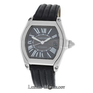 Cartier Mint Mens Unisex Cartier Roadster 2510 Stainless Steel Date Automatic