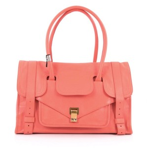 Proenza Schouler Leather Satchel in Coral