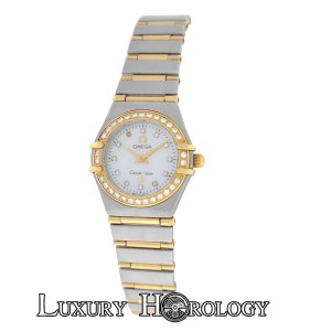 Omega Omega Constellation 1267.75.00 Mini MOP Diamond 18K Gold Full Bar