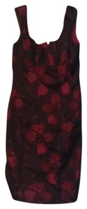 Nanette Lepore short dress Black with Red Roses on Tradesy