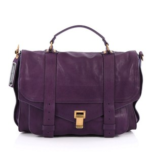 Proenza Schouler Leather Satchel in Purple