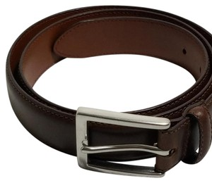 Chaps Chaps Brown Genuine Leather Belt Silver Buckle