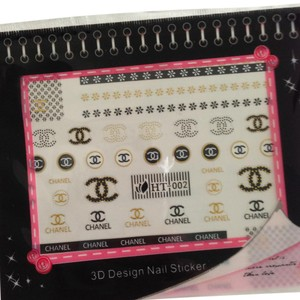 Other Nail Art Stickers Designer Logo GOLD/Black