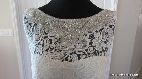 Allure Bridals Ivory / Silver Lace C302 Feminine Wedding Dress Size 12 (L) Image 1