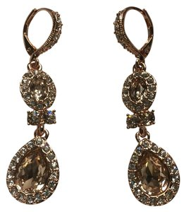 Givenchy Swarovski element rose gold Double tear drop earring