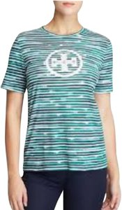 Tory Burch Short Sleeve Logo T Shirt Green