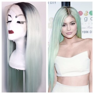 Kylie Jenner Style Mint Green Wig