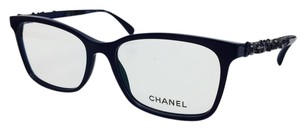 Chanel Chanel Square Blue Blooming Bijou Eyeglasses 3344 c.1462 54