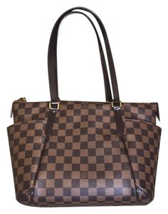 Louis Vuitton Totally Pm Lv Tote in Damier Ebene Canvas