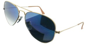 Ray-Ban RB3025-001-3F Aviator Unisex Gold frame Blue Lens Genuine Sunglasses