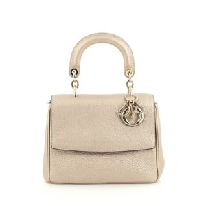 Dior Christian Pebbled Leather Satchel