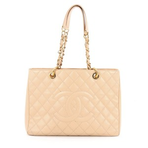 Chanel Leather Tote in Light Beige