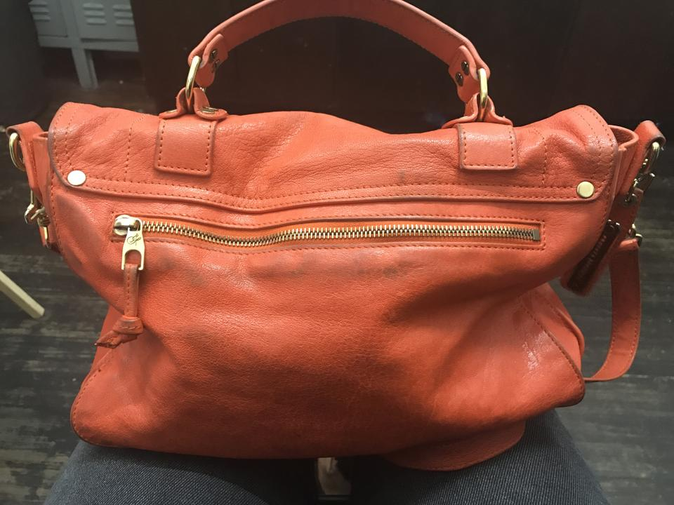 Schouler Satchel Orange Medium Leather Proenza dXwBqFB