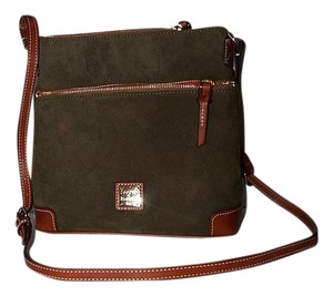 Dooney & Bourke Leather Suede Name Plate Cross Body Bag