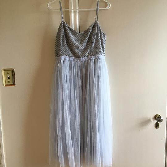 BHLDN Sky Blue Tulle/Beading Needle and Thread Coppelia Modern Bridesmaid/Mob Dress Size 8 (M) Image 1