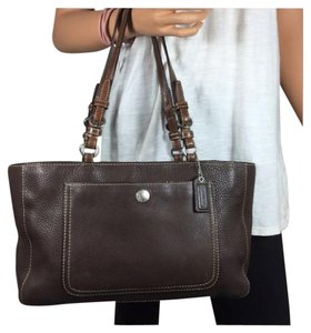 Coach Leather Brown Chelsea Tote in Mahogany