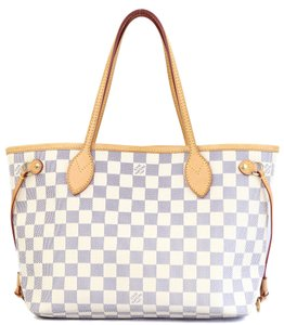 Louis Vuitton Neverfull Azur Shoulder Bag