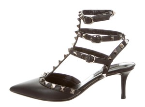Valentino Rockstud Kitten Heels black Pumps