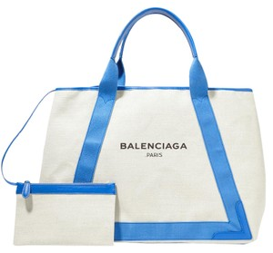 Balenciaga Cabas Navy Cabas M Shopping Tote in Blue