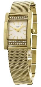 Guess W0127L2 Nouveau Women Gold Steel Bracelet With Gold Analog Dial Watch