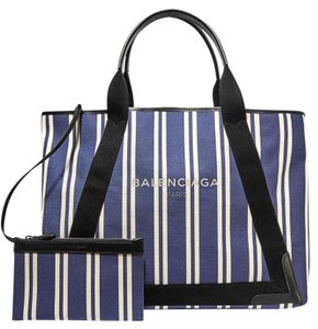 Balenciaga Cabas Cabas M Shopping Tote in Navy