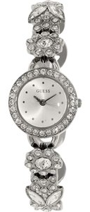 Guess U0527L1 Women's Silver Steel Bracelet With Silver Analog Dial Watch