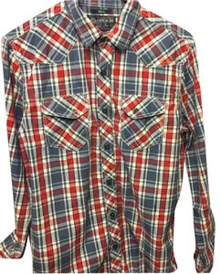 American Rag Button Down Shirt Red