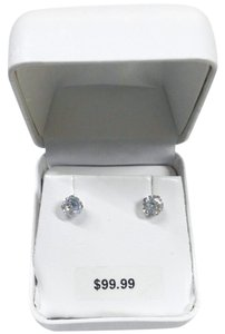 Other New Solid 10K White Gold Simulated Diamond CZ 10KT Gold Earrings