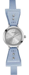 Guess W0736L2 Women's Blue Leather Bracelet With Silver Analog Dial Watch
