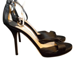 Jimmy Choo Satin Black Sandals