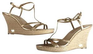 MICHAEL Michael Kors Gold Wedges