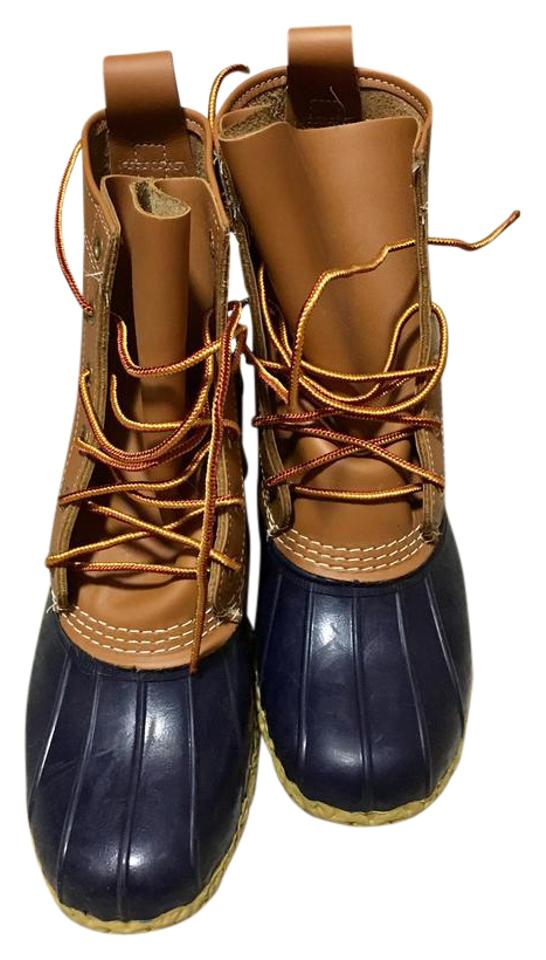 WOMEN High L.L.Bean Tan/Navy The Boots/Booties High WOMEN quality products 66c1b9