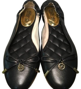 Michael Kors Leather Monogram BLACK Flats