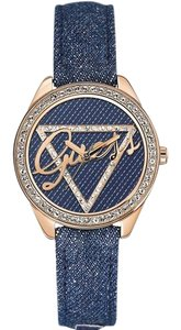 Guess W0456L6 Little Flirt Women's Blue Leather Bracelet With Blue Dial