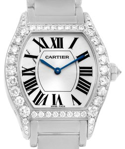 Cartier Cartier Tortue 18K White Gold Diamond Ladies Watch WA5072W9