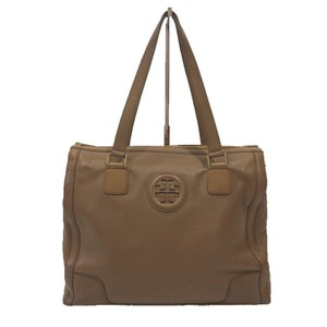 Tory Burch Leather Gold Hardware Spring Summer Logo Shoulder Bag